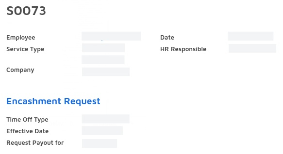 service request for HR